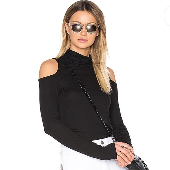 3d6a3bf302a07 Lanston Sweaters - Lanston cold shoulder turtleneck top black S